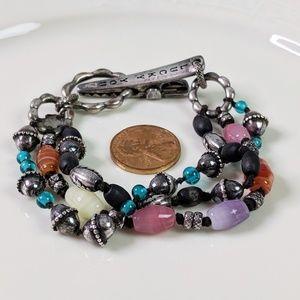 Lucky Brand Natural Stone 2 Strand Bracelet
